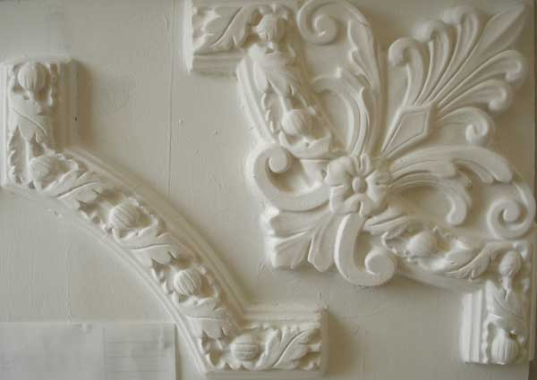 Acorn plaster Panel mould /& small corners
